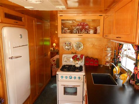 cabinets designs kitchen vintage trailer interiors from the 1930 s 1938
