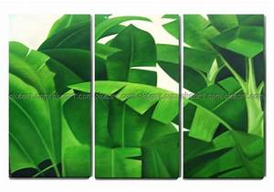 100% hand painted free shipping Tropical plants shrubs ...