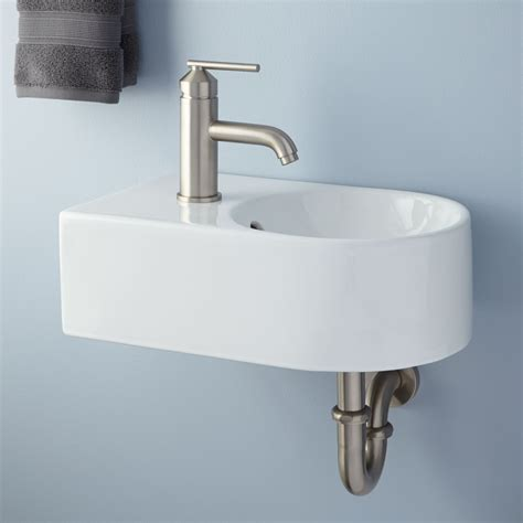 small wall mounted sink  good choice  space