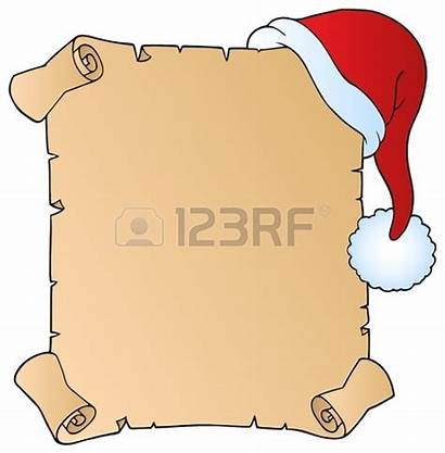 Scroll Blank Clipart Letter Christmas Clip Wish