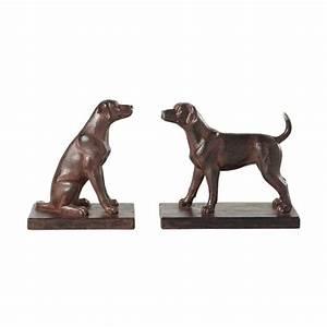 Serre Maison Du Monde : serre livres chiens en r sine effet rouille h 16 cm ~ Premium-room.com Idées de Décoration