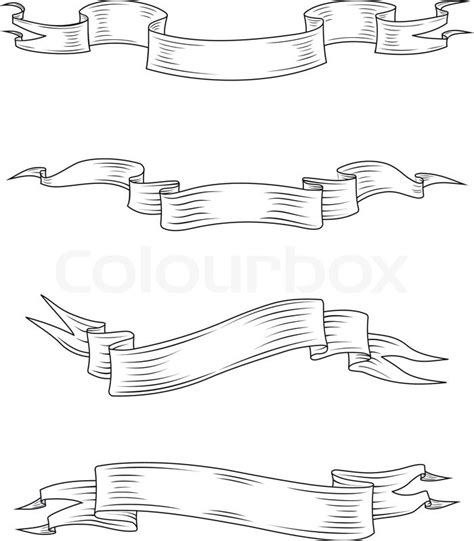 template medieval banner free medieval ribbons and banners set isolated on white