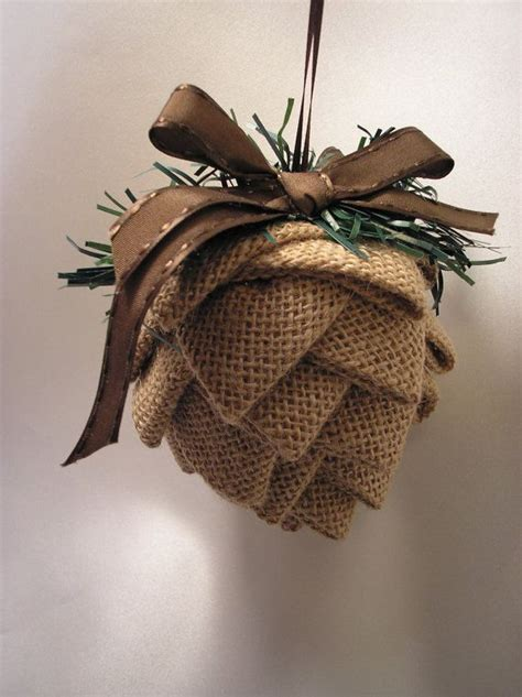 ideas  burlap ornaments  pinterest