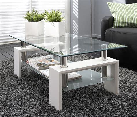 table pour salon de the table de salon en verre noir ou blanc design wilma 2