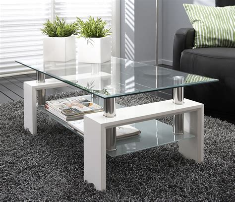 Table De Salon En Verre Noir Ou Blanc Design Wilma 2