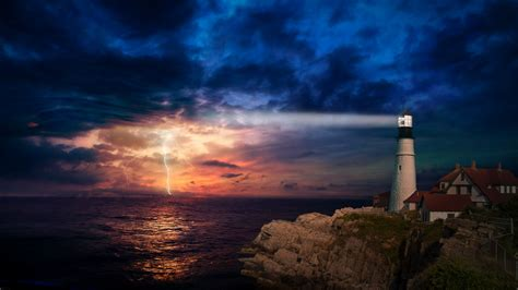 4k Wallpapers by Sunset Lighthouse 4k Wallpapers Hd Wallpapers Id 28881
