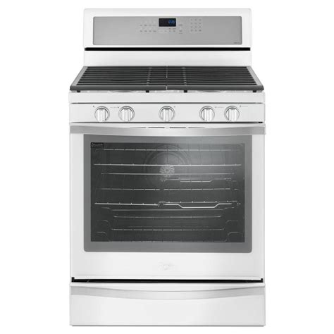 whirlpool 5 burner gas cooktop whirlpool 5 8 cu ft freestanding gas range with center