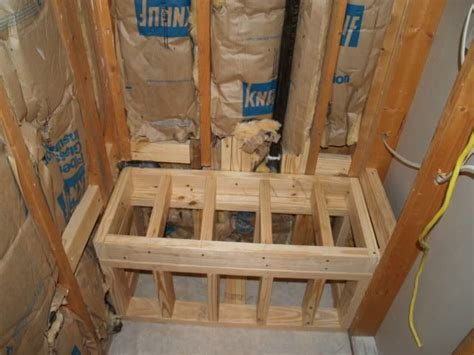 shower bench block  frame ceramic tile advice