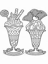 Coloring Pages Ice Cream Adults Zentangle Adult Mycoloring Printable Favorite sketch template