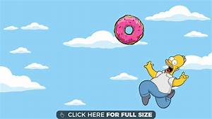 Homer Simpson Chasing Donut HD wallpaper