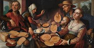"""Pieter Aertsen's """"Butcher Stall with the Flight into Egypt ..."""