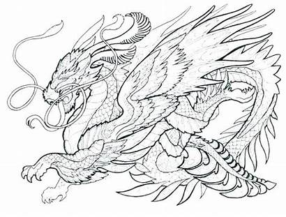 Dragon Coloring Pages Sea Realistic Printable Getcolorings