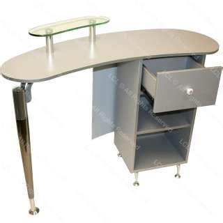 salon reception desk with glass display polished chrome retail glass display case reception desk