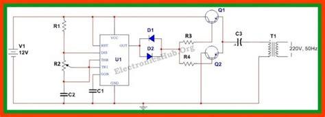 2 cara membuat rangkaian inverter 12v ke 220 ac menggunakan transistor atau ic 555 cara tekno