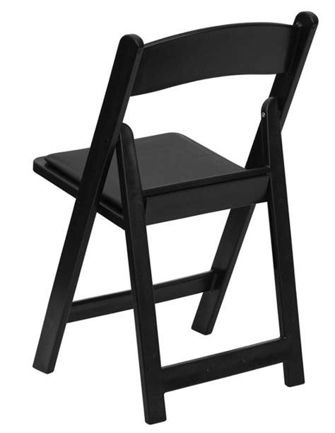 black resin folding wedding chair