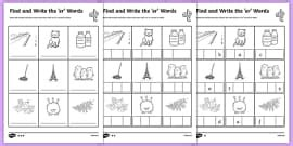 find  write  ar words differentiated worksheet
