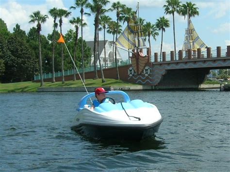 Mini Boat Disney by Bicycle Rentals In Disney World