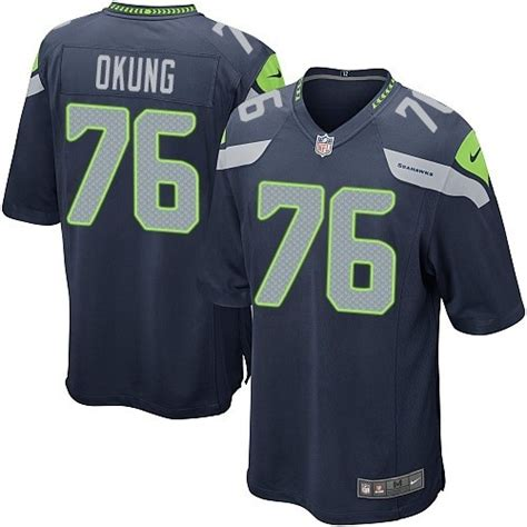 Nfl Seattle Seahawks Youth Game Navy Blue Home Nike Jersey