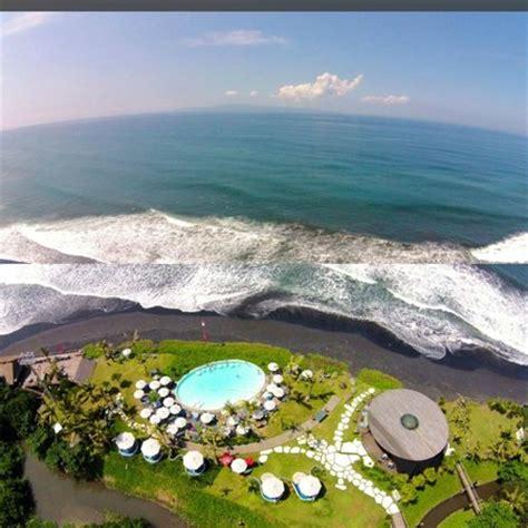 aerial view picture  komune resort keramas beach bali