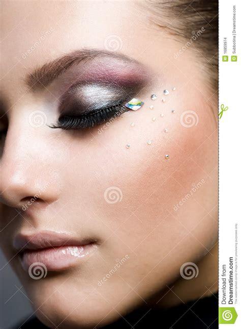 beautiful makeup stock photo image  fresh brown