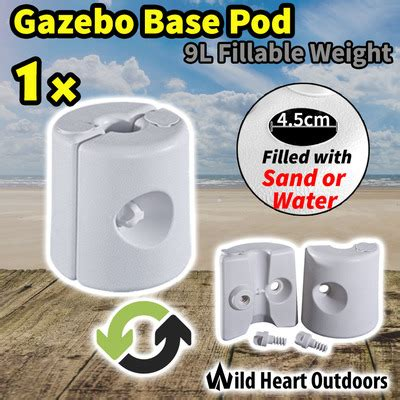 gazebo base pod kit tent canopy marquee feet leg fillable weight water sand pods