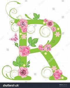 Letter R Roses Design Stock Vector 23946322 - Shutterstock