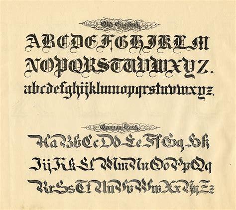 Spoodawgmusic Medieval Calligraphy Alphabet