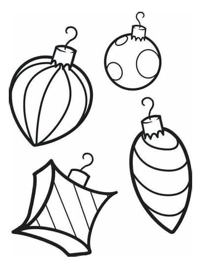 Coloring Christmas Ornaments Pages Printable Sheets Scribblefun