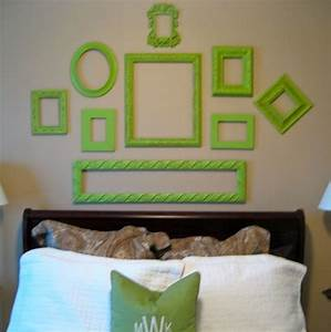 Wall decor and photo frames : Decorating with old picture frames money saving wall
