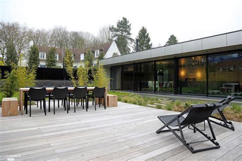 chambre style scandinave maison contemporaine avec patio hornoy architectes côté