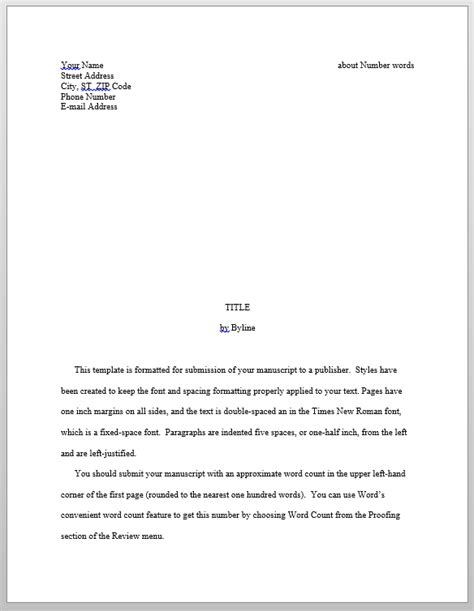 Manuscript Template by Evaluating Predefined Manuscript Templates In Word S K