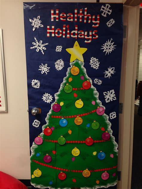 christmas ideas for school nurses office door decoration bulletin boards