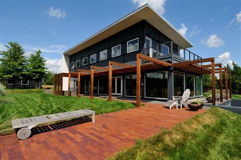 farmhouse style homes contemporary prairie style home prairie house no 2 contemporary exterior