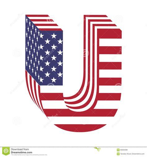 Letter Usa by Usa Flag 3d Alphabet Letter U Textured Font Stock