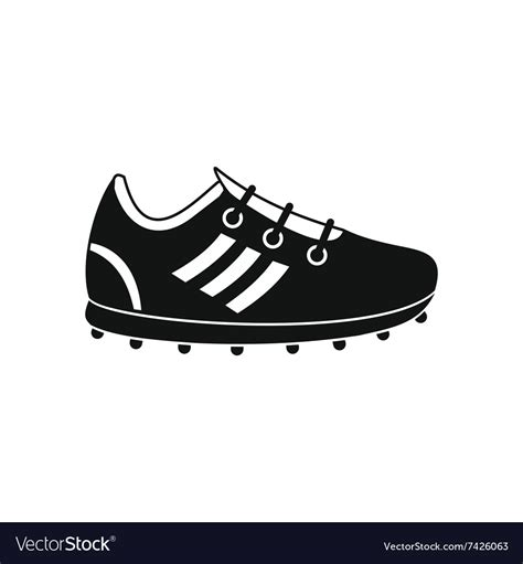 soccer shoes black simple icon royalty  vector image