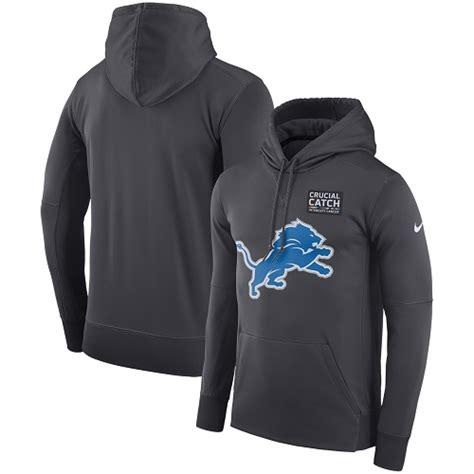 cheap duke jerseys Men\'s Detroit Lions Anthracite Crucial ...