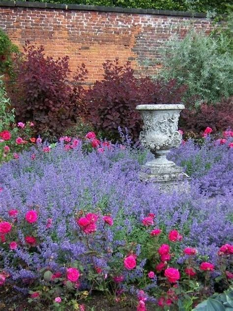 Garden with Roses and Lavender