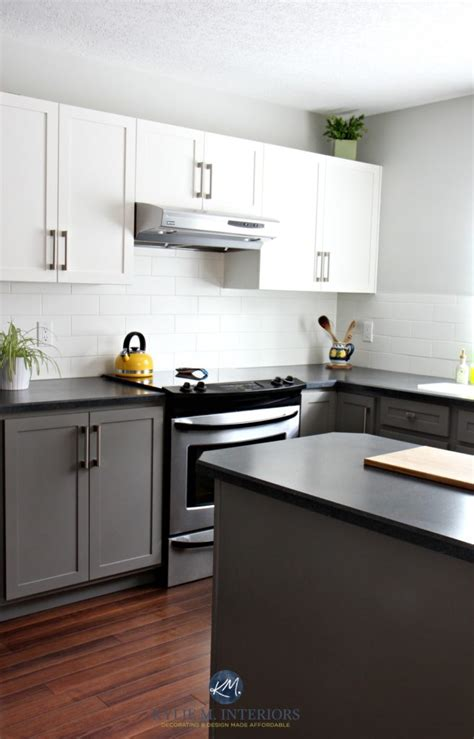 budget friendly kitchen  painted cabinets benjamin moore chelsea gray gray owl white