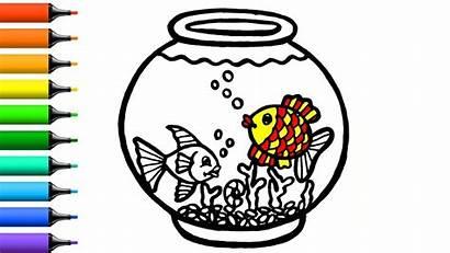 Tank Fish Drawing Toy Coloring Mewarnai