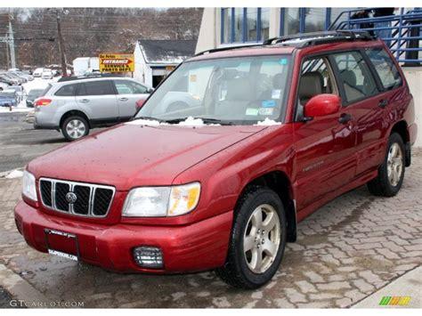 subaru forester red 2002 sedona red pearl subaru forester 2 5 s 26125178