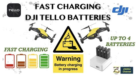 charging dji tello batteries fast fastest   charge dji tello batteries youtube