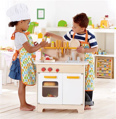 amazon com hape gourmet play kitchen starter accessories