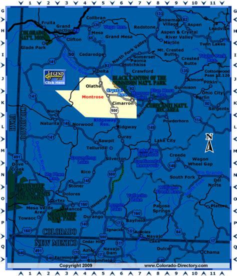 montrose colorado map southwest  map colorado