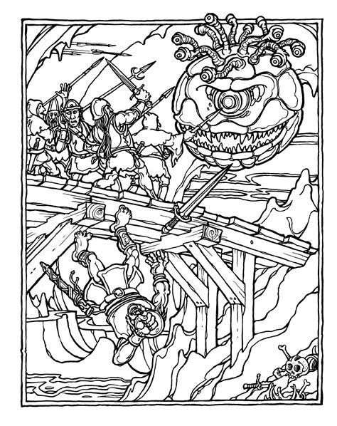monster brains  official advanced dungeons  dragons coloring book illustrated  greg