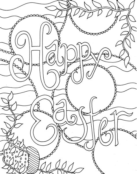 Coloring Easter Pages by Easter Coloring Pages For Adults Best Coloring Pages For
