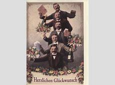 Schöne retro Geburtstagskarte Männer Herzlichen