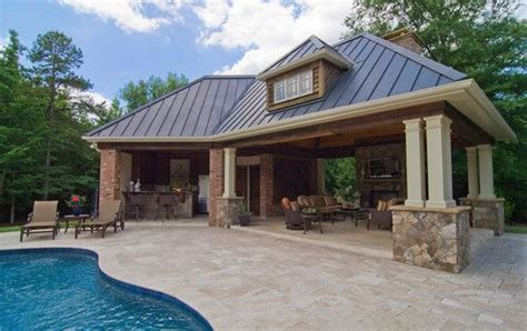 pool house designs with outdoor kitchen pool houses and cabanas design pictures remodel decor 9146