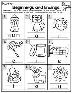beginning   sounds worksheets  kindergarten
