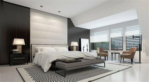 d馗oration chambre noir et blanc décoration chambre à coucher 77 idées embellir le mur