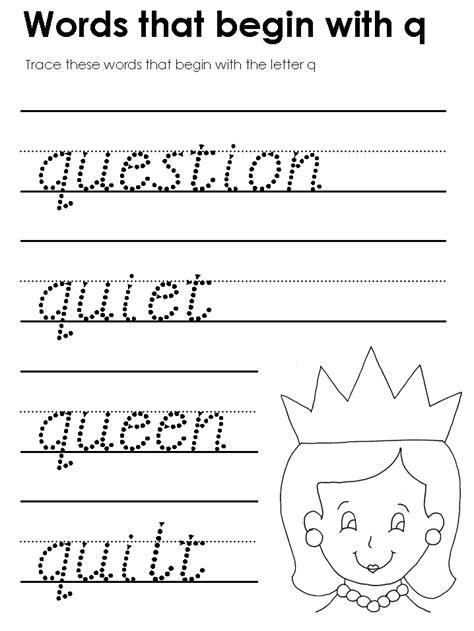 modern manuscript tracers beginning consonant sounds 741 | q as begins mm